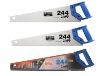 Bahco 2 x 244 Hardpoint Handsaw 550mm (22in) & 1 x 244 Fine Cut Handsaw 550mm (22in)| Duotool