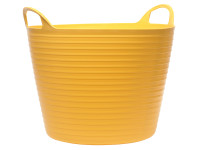 Faithfull Heavy-Duty Polyethylene Flex Tub 15 Litres Yellow