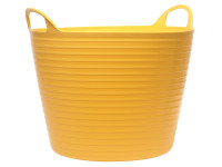 Faithfull Heavy-Duty Polyethylene Flex Tub 60 Litres Yellow