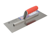 Faithfull Plasterers Carbon Finishing Trowel Soft-Grip Handle 13in x 4.3/4in