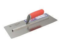 Faithfull Pre Worn Plasterers Finishing Trowel Soft-Grip Handle 14in x 5in