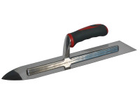 Faithfull Flooring Trowel Stainless Steel Soft-Grip Handle 16in x 4in