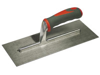 Faithfull Plasterers Trowel Stainless Steel Soft-Grip Handle 11in x 4.3/4in