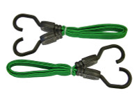 Faithfull Flat Bungee Cord 61cm (24in) Green 2 Piece