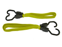 Faithfull Flat Bungee Cord 91cm (36in) Yellow 2 Piece
