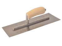 Marshalltown MXS13SS Plasterers Finishing Trowel Stainless Steel Wooden Handle 13in x 5in from Duotool.