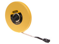 Stanley Tools Closed Case Fibreglass Tape 30m / 100ft (Width 12.7mm)
