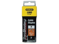 Stanley Tools Cable Staples Type 7 CT100 11mm CT107T Pack 1000| Duotool