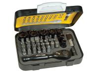 Stanley Tools Tech 3 Ratchet Bit Set of 39 1/4in Drive