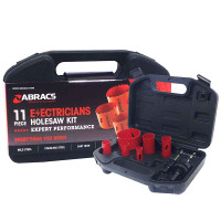 11Pc Abracs Hole Saw Kit