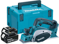 Makita DKP180RMJ 18v 82mm Planer with 2x4ah Li-Ion Batteries from Duotool