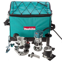 Makita RT0700CX2 110v Router Trimmer + 2 Bases from Duotool