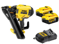 DeWalt DCN694P2-GB 18V XR Li-Ion Positive Placement Nailer 2 x 5.0ah from Duotool