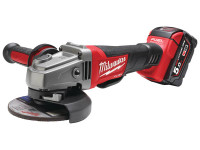 Milwaukee 18v 115mm Brushless Angle Grinder & 2x5.0Ah Li-Ion from Toolden