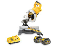 DeWalt DCS778T2-GB 54v XR FlexVolt 2x6Ah Li-Ion 250mm Mitre Saw Kit From Duotool