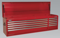 Sealey Topchest 10 Drawer with Ball Bearing Runners Heavy-Duty - Red from Toolden