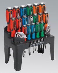 Sealey Hammer-Thru Screwdriver, Hex Key & Bit Set 44pc from Toolden