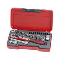 "Teng Tools 24 Piece 1/4"" Drive Socket Set from Toolden."