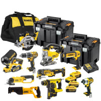 DeWalt 18V XR 10 Piece Kit with 4 X 4.0Ah Batteries