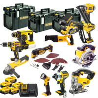 Dewalt XR 18V 12 Piece Kit With 5 X 4.0Ah Batteries
