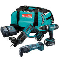Makita M35 18v 3 Piece Kit with 2 x 4.0Ah Batteries