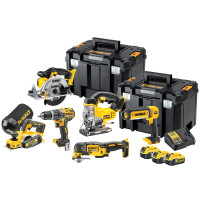 DeWalt DCK665P3T 18V XR 6 Piece Power Tool kit 3x 5.0Ah Battery from Duotool