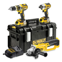 DeWalt DCK382M2-GB 18V 4.0Ah Li-lon XR Cordless Triple Pack from Duotool