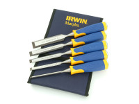 IRWIN Marples MS500 All-Purpose Chisel ProTouch Handle Set 5: 6, 10, 12, 19, & 25mm