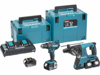 Makita DLX2137PMJ 2 Pce 18v/36v Cordless Kit  DHP48/ DHR263 + 4 x 4Ah Batteries