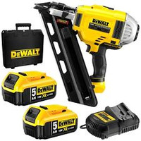 DeWalt DCN692P2 Brushless Cordless First Fix Framing Nailer Kit with 2 x 5.0Ah B