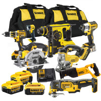 Dewalt XR 18V 8 Piece Brushless Kit with 3 x 4.0Ah Batteries