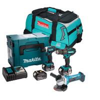 Makita 3 Piece Grinder Kit with 3 x 3.0Ah Batteries
