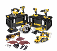 DeWalt 8 Piece 18v Cordless Kit with 3 x 4.0Ah Batteries