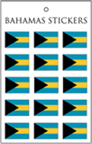 Bahamas Flag Stickers