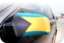 Bahamas Flag Mirror Covers