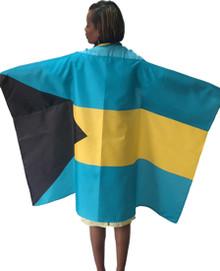 Bahamas Flag Poncho