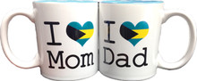 I Love Mom and Dad Patriotic Mugs