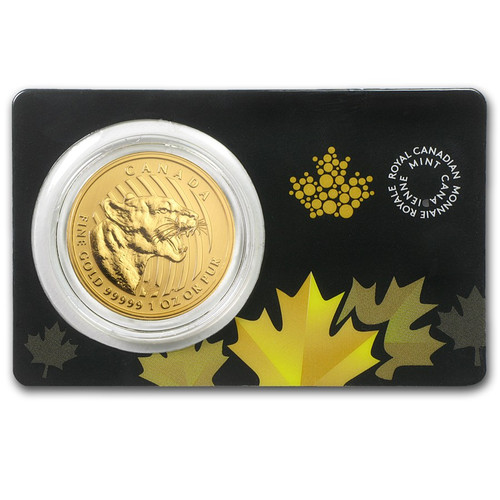 RCM 2015 Canadian Growling Cougar 1 oz Gold Coin (In Assay)
