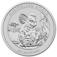 2017 Australian Koala 1 kilo Silver Coin