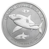 2014 Australian Great White Shark 1/2 oz Silver Coin