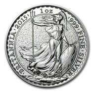 2015 Great Britain Britannia 1 oz Silver Coin