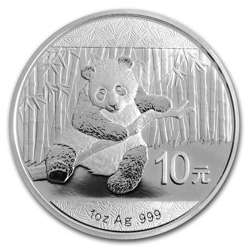 2014 China Panda 1 oz Silver Coin