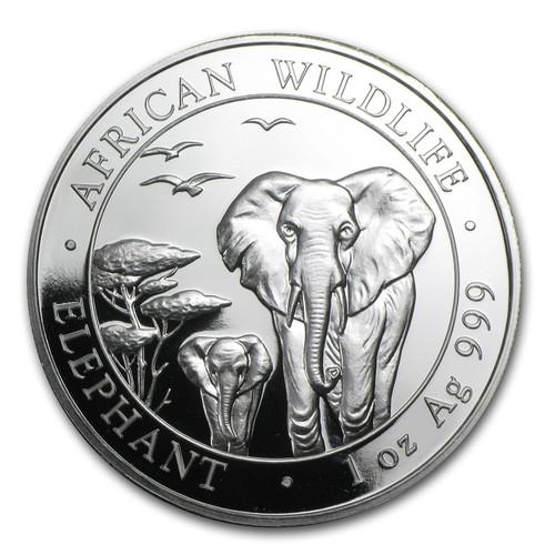 2015 Somalia Elephant 1 oz Silver Coin