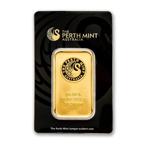 Australian Kangaroo 50 gram Gold Bar (In Assay)