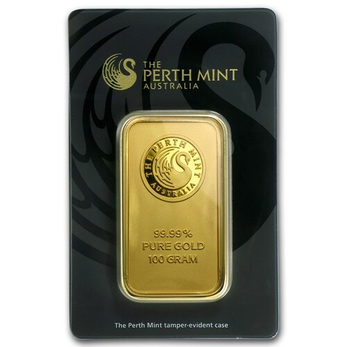 Australian Kangaroo 100 gram Gold Bar (In Assay)