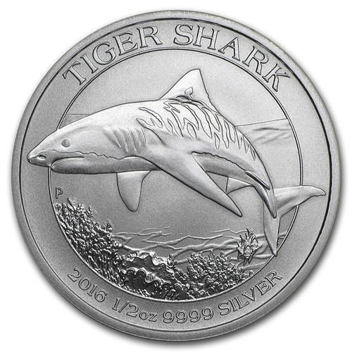 2016 Australian Tiger Shark 1/2 oz Silver Coin