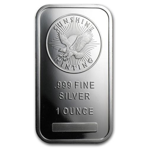 Sunshine Mint 1 oz Silver Bar