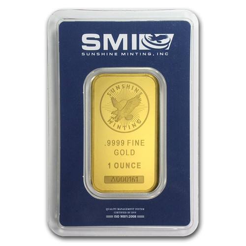 Sunshine Mint 1 oz Gold Bar (In TEP Packaging)