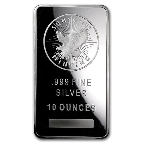 Sunshine Mint 10 oz Silver Bar