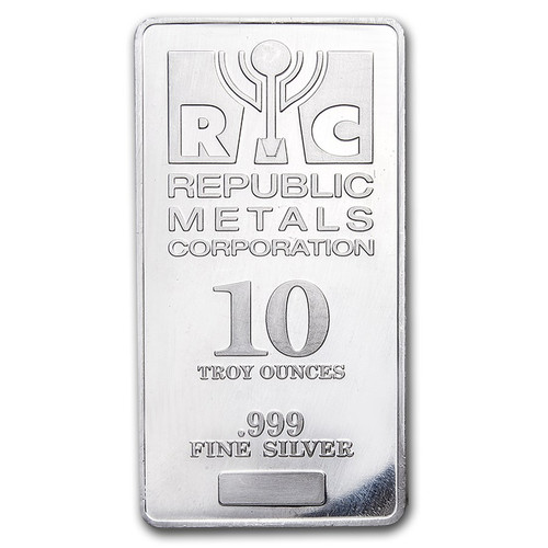 Republic Metals Corporation 10 oz Silver Bar